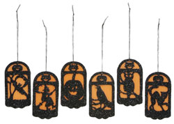 Primitives By Kathy Mini Halloween Panel Ornament