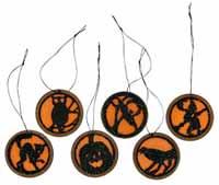 Primitives By Kathy Mini Round Halloween Ornament