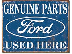Vintage Ford Parts Tin Sign