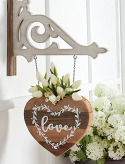 Barnwood Heart with Planter Arrow Replacement
