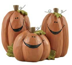 Trio of Smiling Jack O'Lanterns