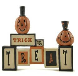 Trick or Treat Blocks with Pumpkins
