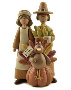 Pilgrim Couple with Turkey