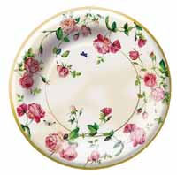 Rambling Rose Paper Dessert Plates