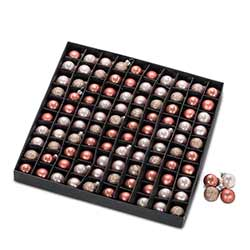 Pink & Rose Gold Mini Ball Ornaments (Box of 100)