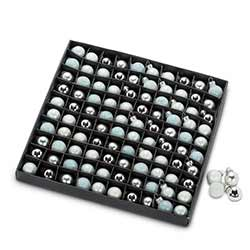 Silver & Gray Mini Ball Ornaments (Box of 100)