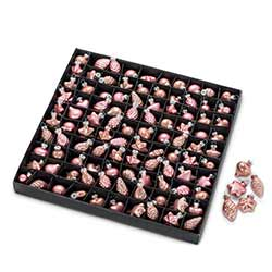 Pink Mini Ornaments (Box of 100)