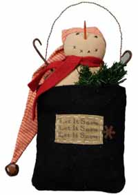 Primitives By Kathy Snowman in Bag Ornament