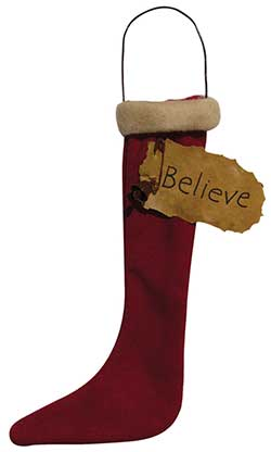 Believe Stocking Ornament