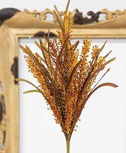 Burnt Orange Curly Cue Floral Pick