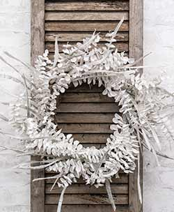 Winter White Sparkling Eucalyptus Wreath