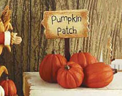 Pumpkin Patch Sign with Pumpkins