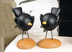 Crows on Base (Set of 2)