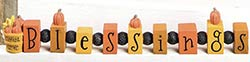 Blessings Bead Block with Pumpkins