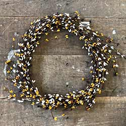 Burgundy, Mustard, & Cream Pip Berry Wreath (16 inch)
