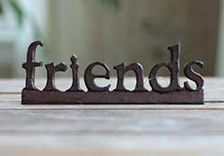 Friends Resin Shelf Sitter - Red