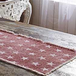 Multi Star Red Table Runner (72 inch)
