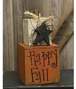 Primitive Happy Fall Tabletop Decor