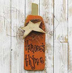 Harvest Thyme Pumpkin Wall Decor