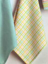 Pastel Petite Check Dishtowel
