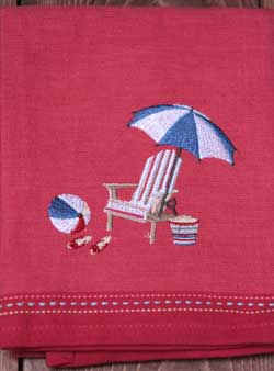 Adirondack Embroidered Dishtowel