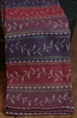 Fall Berry Stripe Jacquard Towel