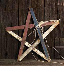 Patriotic Wood Lath Star - 24 inch