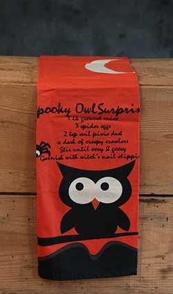 Spooky Owl Surprise Dishtowel