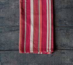 Harvest Pumpkin Stripe Dishtowel