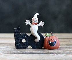 Boo Block with Ghost & Pumpkin