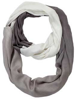 Light Grey Ombre Infinity Scarf