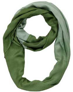 Green Mist Ombre Infinity Scarf