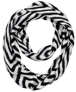 Black & White Chevron Infinity Scarf
