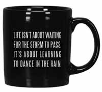 Dance in the Rain Box Sign Mug