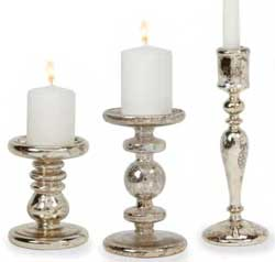 Antique Silver Candle Holder (3 styles)