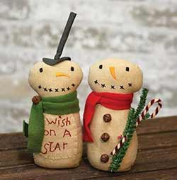 Wish on a Star Snowmen (Set of 2)