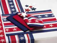 Design Imports (DII) Stars & Stripes Jacquard Placemat