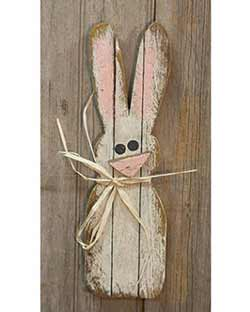 Lath Skinny Bunny Wall Decor