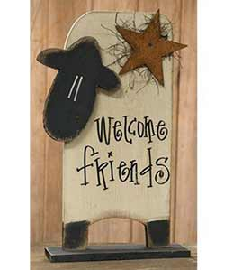 Welcome Friends Sheep Stander