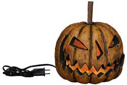 Grinning Pumpkin Head - Lighted Sinister (Small)