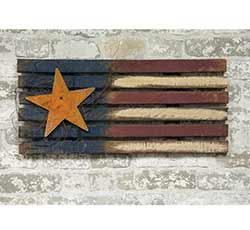 Lath Patriotic Flag with Star - 24 inch