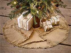 Burlap Mini Christmas Tree Skirt with Reverse Seam