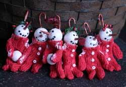 Long John Snowman Ornaments (Set of 6)