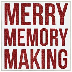 Merry Memory Making Box Sign