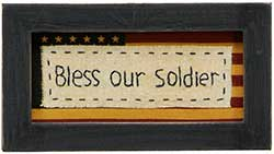 Primitives By Kathy Bless Our Soldier Stitchery