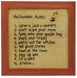 Primitives By Kathy Halloween Rules Stitchery