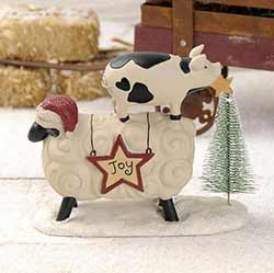 Joy Sheep with Pig and Christmas Tree
