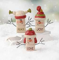 Marshmallow Snowmen (Set of 3)