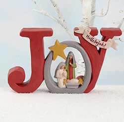 Holy Family with Joy Plaque