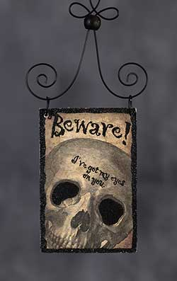 Beware Postcard Picture Ornament